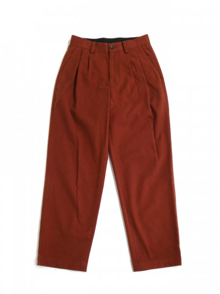 <img class='new_mark_img1' src='https://img.shop-pro.jp/img/new/icons2.gif' style='border:none;display:inline;margin:0px;padding:0px;width:auto;' />2PLEATS FLANNEL SLACKS (TERACOTTA)