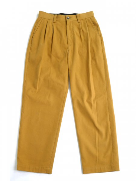 <img class='new_mark_img1' src='https://img.shop-pro.jp/img/new/icons2.gif' style='border:none;display:inline;margin:0px;padding:0px;width:auto;' />2PLEATS FLANNEL SLACKS (MUSTARD)