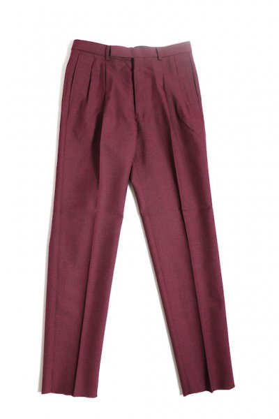 <img class='new_mark_img1' src='//img.shop-pro.jp/img/new/icons2.gif' style='border:none;display:inline;margin:0px;padding:0px;width:auto;' /> 2-Tuck Tapered Trousers( WINE)