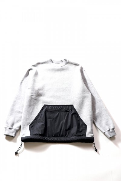 <img class='new_mark_img1' src='//img.shop-pro.jp/img/new/icons2.gif' style='border:none;display:inline;margin:0px;padding:0px;width:auto;' />SHELL CREW NECK SWEAT (GRAY)