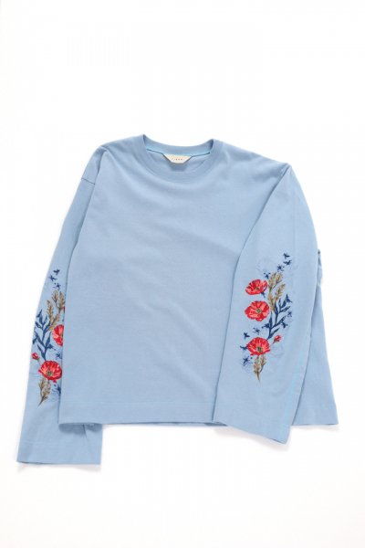 <img class='new_mark_img1' src='https://img.shop-pro.jp/img/new/icons2.gif' style='border:none;display:inline;margin:0px;padding:0px;width:auto;' />FLOWER EMBROIDERY L/S(BLUE)
