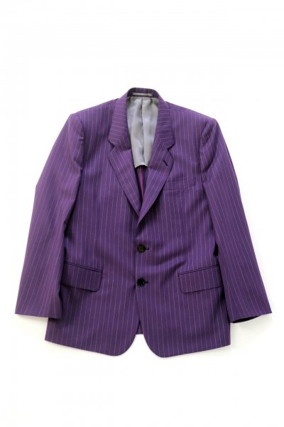 <img class='new_mark_img1' src='https://img.shop-pro.jp/img/new/icons2.gif' style='border:none;display:inline;margin:0px;padding:0px;width:auto;' />Stripe Single Breasted Jacket(PURPLE)