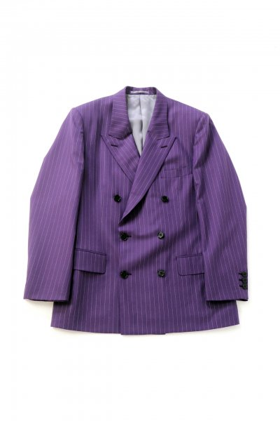 <img class='new_mark_img1' src='https://img.shop-pro.jp/img/new/icons2.gif' style='border:none;display:inline;margin:0px;padding:0px;width:auto;' />Stripe Double Breasted Jacket(PURPLE)