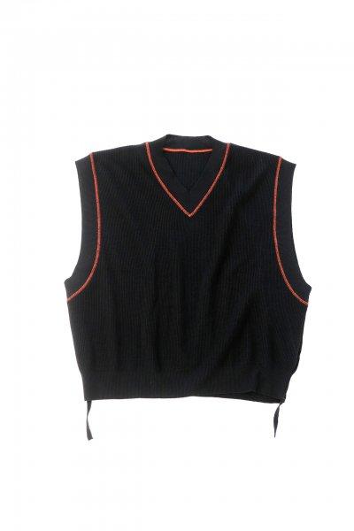 knit vest(BLACK)
