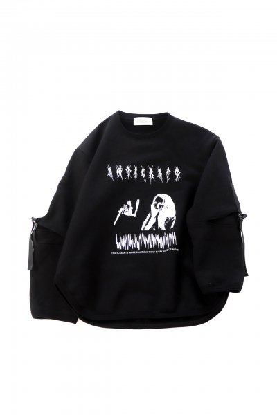 <img class='new_mark_img1' src='https://img.shop-pro.jp/img/new/icons2.gif' style='border:none;display:inline;margin:0px;padding:0px;width:auto;' />SCREAM TOE SWEAT SHIRT(BLK)