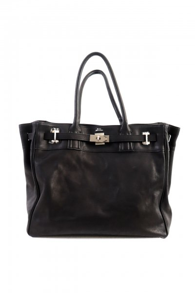 <img class='new_mark_img1' src='https://img.shop-pro.jp/img/new/icons2.gif' style='border:none;display:inline;margin:0px;padding:0px;width:auto;' />LEATHER TOTE BAG(BLACK)