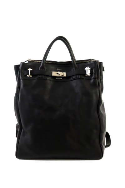 <img class='new_mark_img1' src='https://img.shop-pro.jp/img/new/icons2.gif' style='border:none;display:inline;margin:0px;padding:0px;width:auto;' />LEATHER BACK PACK(BLACK)