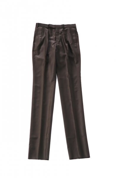 <img class='new_mark_img1' src='https://img.shop-pro.jp/img/new/icons2.gif' style='border:none;display:inline;margin:0px;padding:0px;width:auto;' />shiny tucked trouser(BROWN)