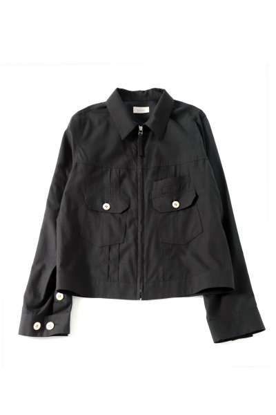 <img class='new_mark_img1' src='https://img.shop-pro.jp/img/new/icons2.gif' style='border:none;display:inline;margin:0px;padding:0px;width:auto;' />Front Zip Shirts blouson<br>(BLACK)(WHITE)