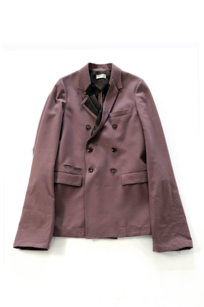 <img class='new_mark_img1' src='https://img.shop-pro.jp/img/new/icons2.gif' style='border:none;display:inline;margin:0px;padding:0px;width:auto;' />DISTORTION LAPEL DOUBLE JACKET