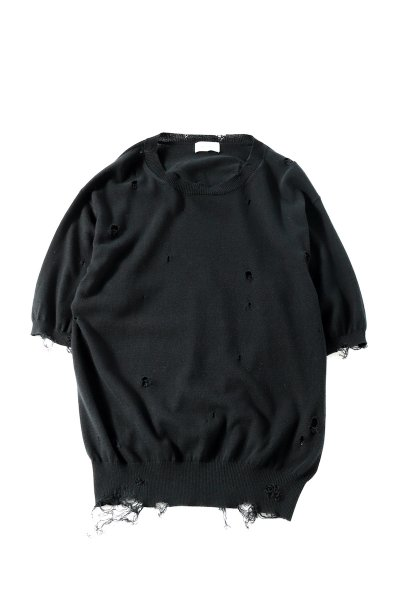 <img class='new_mark_img1' src='https://img.shop-pro.jp/img/new/icons2.gif' style='border:none;display:inline;margin:0px;padding:0px;width:auto;' />Dameged half sleeves Knit