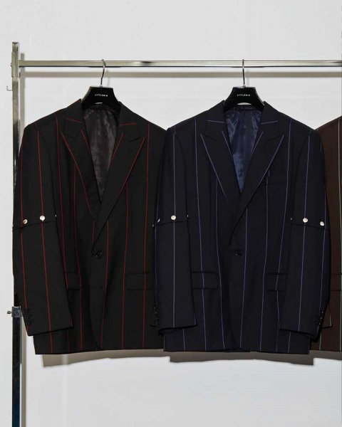 <img class='new_mark_img1' src='https://img.shop-pro.jp/img/new/icons2.gif' style='border:none;display:inline;margin:0px;padding:0px;width:auto;' />Removable Stripe Single Jacket<br>(BLK)(NAVY)