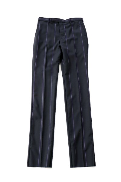 <img class='new_mark_img1' src='https://img.shop-pro.jp/img/new/icons2.gif' style='border:none;display:inline;margin:0px;padding:0px;width:auto;' />Stripe Slim Trousers<br>(NAVY)