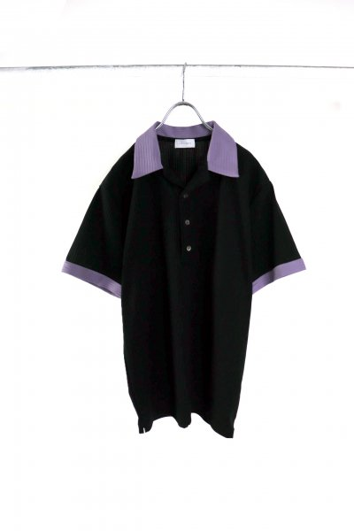 <img class='new_mark_img1' src='https://img.shop-pro.jp/img/new/icons2.gif' style='border:none;display:inline;margin:0px;padding:0px;width:auto;' />Open Collared Polo<br>(BLACK)(NAVY)