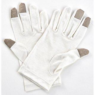 夜美容潤いシルク  おやすみ手袋 キナリ