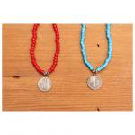 button works ボタンワークスホワイトハーツ ネックレスwithマーキュリーダイム WHITE HEARTS NECKLACE with Mercury Dime