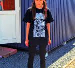 MOMENTARY PSYCHO ART ANUSTES(アニューズテス) deviated 半袖Tシャツ ブラック 黒 バンド ハードコア好きに