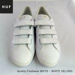 <img class='new_mark_img1' src='https://img.shop-pro.jp/img/new/icons25.gif' style='border:none;display:inline;margin:0px;padding:0px;width:auto;' />セール HUF  ベルクロスニーカー ホワイト Quality Footwear BOYD / WHITE VELCRO メンズ レディース