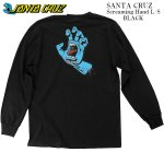 SANTA CRUZ 長袖 ロングスリーブ Tシャツ ロンT ブラック Screaming Hand L/S Tee サンタクルーズ メンズ レディース