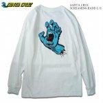 SANTA CRUZ 長袖 ロングスリーブ Tシャツ ロンT ホワイト Screaming Hand L/S Tee サンタクルーズ メンズ レディース