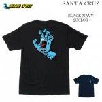 SANTA CRUZ Tシャツ SCREAMING HAND REGULER  S/S TEE サンタクルーズ ブラック ネイビー バックプリント