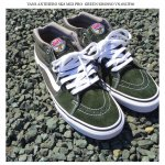<img class='new_mark_img1' src='https://img.shop-pro.jp/img/new/icons25.gif' style='border:none;display:inline;margin:0px;padding:0px;width:auto;' />VANS ANTIHERO コラボ スニーカー SK8 MID PRO ヴァンズ アンタイヒーロー スケート ミッド プロ グリーン GREEN/GROSSO VN-0SJJF60