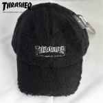 <img class='new_mark_img1' src='//img.shop-pro.jp/img/new/icons1.gif' style='border:none;display:inline;margin:0px;padding:0px;width:auto;' />THRASHER キャップ もこもこキャップ メンズ レディース ロゴ刺繍 スラッシャー 18th-c53
