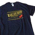EAST 4th Skate イーストフォース 半袖Tシャツ ロゴ チェリー ブラック(BLACK) EAST 4th Skate Cherry Tee BLK  メンズ レディース ユニセックス