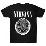 NIRVANA ニルヴァーナ 半袖Tシャツ ブラック 黒 バンドTシャツ メンズ レディース グランジ 音楽好きに 定番  フロントロゴ