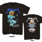 Metallica メタリカ ブラック 黒 半袖 Tシャツ メンズ レディース ユニセックス 古着好きにも バックプリントTシャツ バンドTシャツ ヘヴィメタル