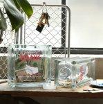 DULTON  ダルトン 貯金箱 ガラス ブロック バンク GLASS BLOCK BANKプレゼント シンプル レトロ アメリカン雑貨 定番 インテリア おしゃれ 雑貨
