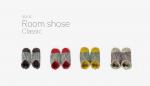 洗える Room Shoes 足ぶくろ NOMADO ノマド グレー 灰色マスタード 黄色 レッド 赤 ベージュ 4カラー展開プレゼントにも おうち時間 ルームシューズ