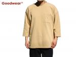 GOOD WEAR 7分袖 ポケット Tシャツ ブラック 黒 ホワイト ベージュ 3カラー USAコットン メンズ レディース ユニセックス グッドウェア シンプル 定番