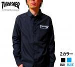 THRASHER/スラッシャー 長袖シャツ オックスフォードシャツ ブラック ブルー (2カラー)