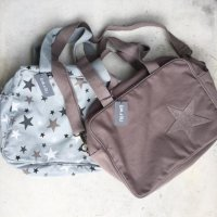<img class='new_mark_img1' src='//img.shop-pro.jp/img/new/icons16.gif' style='border:none;display:inline;margin:0px;padding:0px;width:auto;' />20%Off! EVA & Oli ☆ Baby Diaper Bag - Beton star piqu&eacute;e