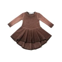 50%Off!!◇OMAMIMINI◇High-low Girls Ombre Dress | Vintage Chocolate (2T, 3T, 4, 5, 6)
