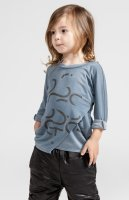 50%Off!!◇OMAMIMINI◇PSSST Kids Long Sleeve Tee | Steel Grey (2T, 3T, 4, 5, 6)