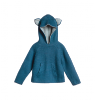50%Off!!◇WADDLER◇Riversible Animal Hoodie / Petrol Blue and Ocean Blue (4y, 6y)