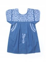 Apolina◇ 'STEVIE' DRESS - BLUEBELL WITH WHITE EMBROIDERY (S,M,L)
