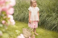 50%Off! Bonheur du Jour Paris◇Ondela, golden checks (2Y, 4Y, 6Y)