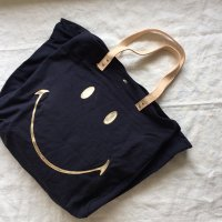 Easy Peasy◇Cabas Smiley (Tote Bags) Encre