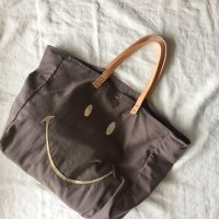 Easy Peasy◇Cabas Smiley (Tote Bags) Taupe