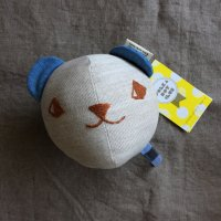 Polka Dot Club◇Rattle Ball, Bear (Blue)