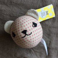Polka Dot Club◇Rattle Ball, Bear (Pink)