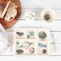Love Mae◇Moon and Stars - 5 Piece Bamboo Dinner Set