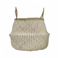 Zig Zag Belly Basket - M