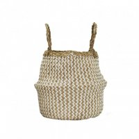 Zig Zag Belly Basket - S