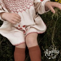 Apolina◇ 'Maren' Smock Dress - Stone (S,M,L)