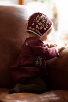 30%Off! Apolina◇ 'Joni' Winter Bonnet - Garnet (6-12m, 12-18m, 18-24m, 2yrs+)
