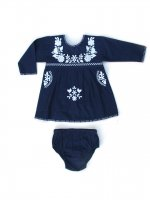 Apolina◇ 'Tina' Tunic Set - Navy (6-12m, 12-18m, 18-24m)
